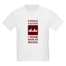 Paddle faster I here banjo mu T-Shirt
