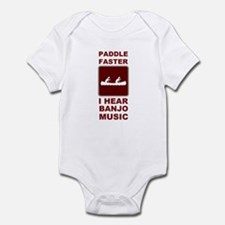 Paddle faster I here banjo mu Infant Bodysuit