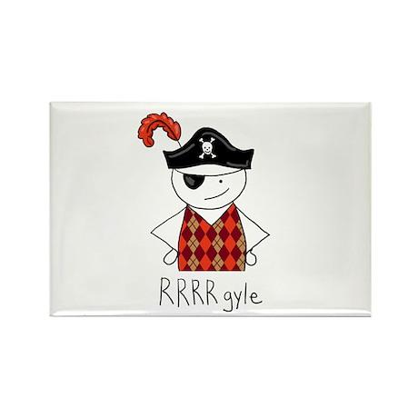 RRRR-gyle Pirate Rectangle Magnet