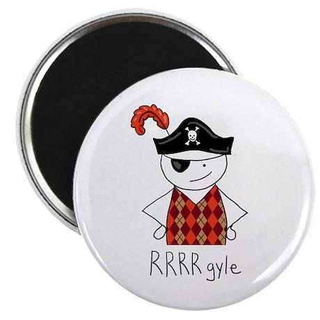 """RRRR-gyle Pirate 2.25"""" Magnet (100 pack)"""
