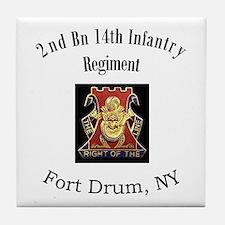 2nd 14th Inf Reg Tile Coaster