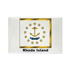 Rhode Island State Flag Rectangle Magnet