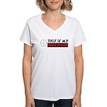 My Peace Symbol Women's V-Neck T-Shirt