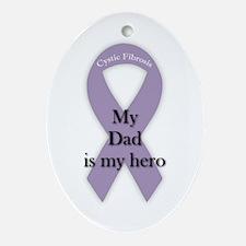 Dad CF Hero Ornament (Oval)