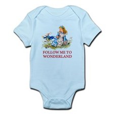 FOLLOW ME TO WONDERLAND Infant Bodysuit