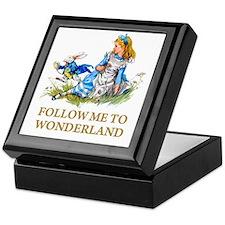 FOLLOW ME TO WONDERLAND Keepsake Box