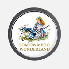 FOLLOW ME TO WONDERLAND Wall Clock