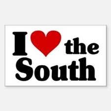 I Heart the South Sticker (Rectangle)