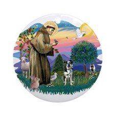 St Francis #2/ Ger Shep #2Catahoula Ornament (Roun