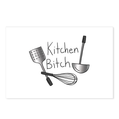 Kitchen Bitch - Postcards (Package of 8)