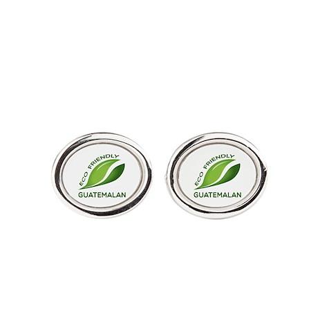Eco Friendly Guatemalan Oval Cufflinks
