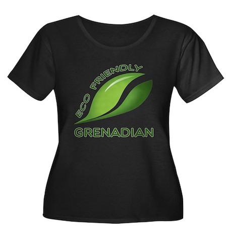 Eco Frie Women's Plus Size Scoop Neck Dark T-Shirt