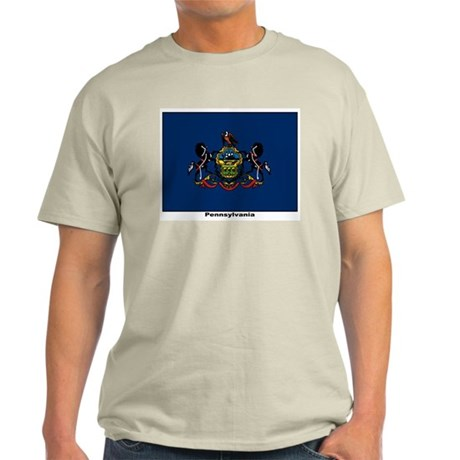 Pennsylvania State Flag Ash Grey T-Shirt
