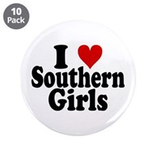 "I Heart Southern Girls 3.5"" Button (10 pack)"