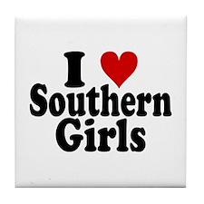 I Heart Southern Girls Tile Coaster