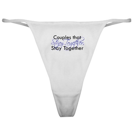 Couples that stray ... Classic Thong