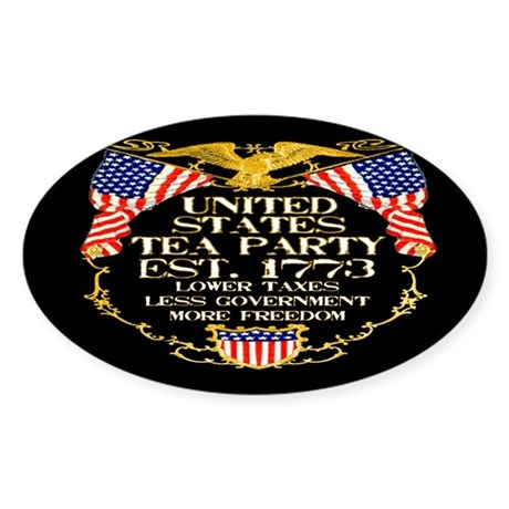 United States Tea Party Sticker (Oval)
