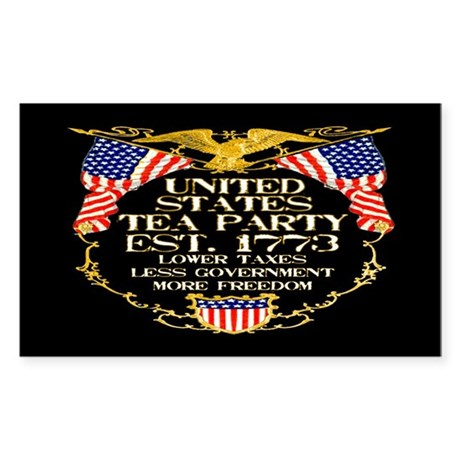 United States Tea Party Sticker (Rectangle)