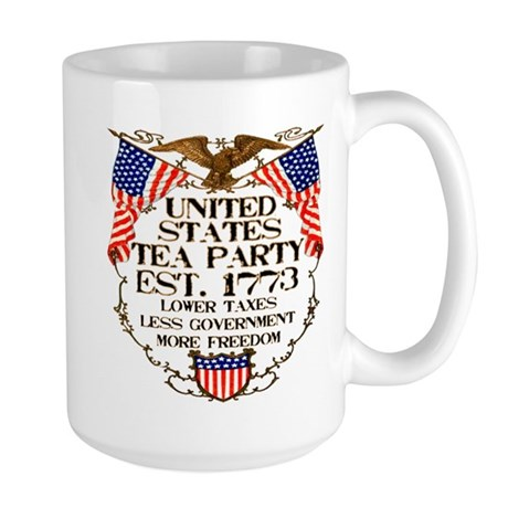 United States Tea Party Large Mug