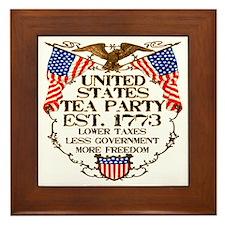 United States Tea Party Framed Tile