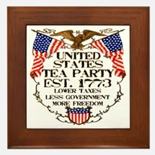 United States Tea Party Framed Tile