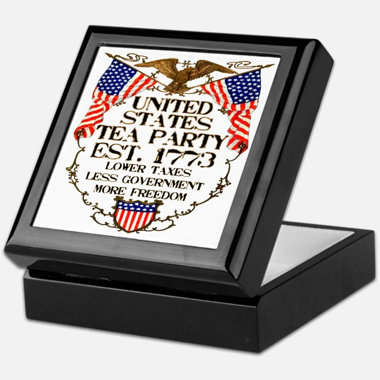 United States Tea Party Keepsake Box