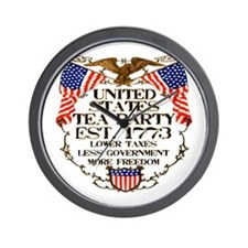 United States Tea Party Wall Clock