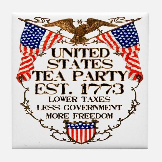 United States Tea Party Tile Coaster
