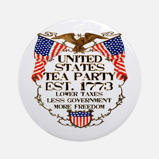 United States Tea Party Ornament (Round)