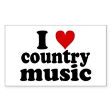 I Heart Country Music Decal