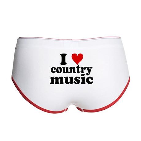I Heart Country Music Women's Boy Brief
