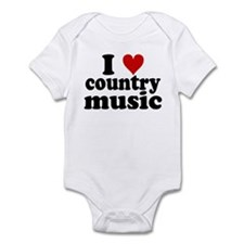 I Heart Country Music Infant Bodysuit