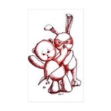Assasin Bunny Sticker (rectangle 10 Pk)