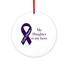 Daughter CF Hero Ornament (Round)