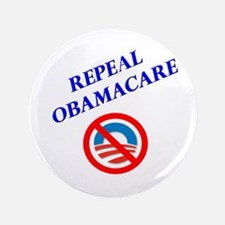 """Repeal Obamacare Logo 2 3.5"""" Button (100 pack"""