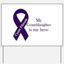 Granddaughter CF Hero Yard Sign