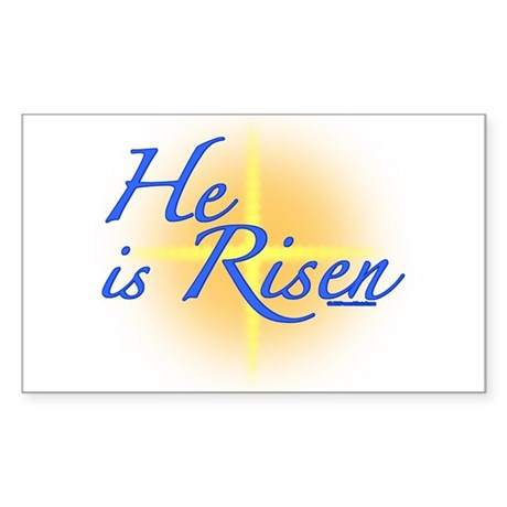 He is Risen Sticker (Rectangle)
