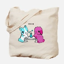 Awkward date bunnies Tote Bag