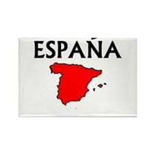 Cute Spain flag Rectangle Magnet