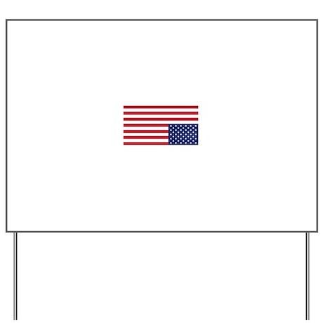 Distress flag USA Yard Sign by 912stuff