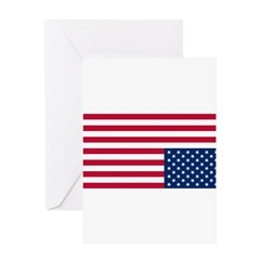 Distress flag, USA Greeting Card