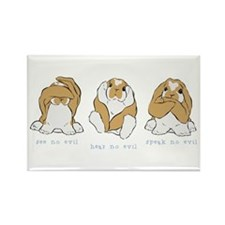 See No Hear No Speak No Evil Rectangle Magnet