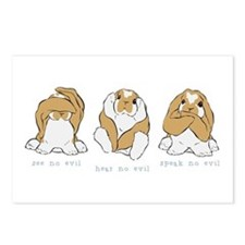 See No Hear No Speak No Evil Postcards (Package of