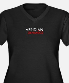 Veridian Dynamics Women's Plus Size V-Neck Dark T-