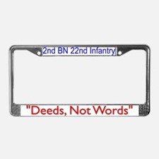 2nd Bn 22nd Inf Reg License Plate Frame