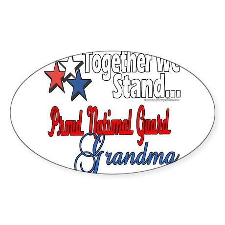 National Guard Grandma Sticker (Oval 10 pk)