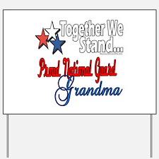 National Guard Grandma Yard Sign