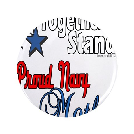 """Proud Navy Mother 3.5"""" Button (100 pack)"""