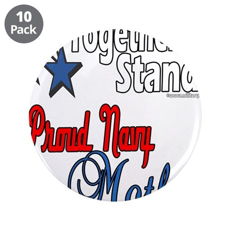 """Proud Navy Mother 3.5"""" Button (10 pack)"""