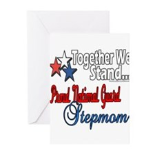 Proud National Guard Stepmom Greeting Cards (Pk of